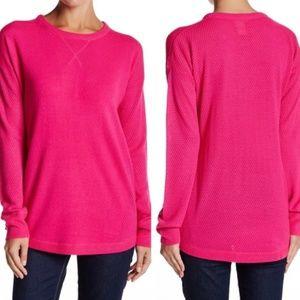 Sweet Romeo crochet Sweater hot pink